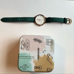 Teal Fossil Watch